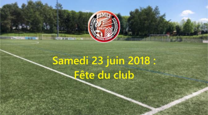 Catégorie U13 : Fête du club samedi 23 juin 2018