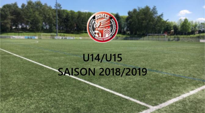 U14/U15 : Convocations match amical samedi 25 août