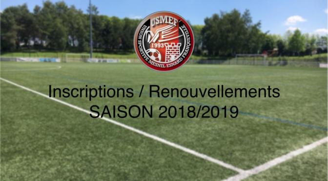 Ecole de foot : permanence inscriptions/renouvellements