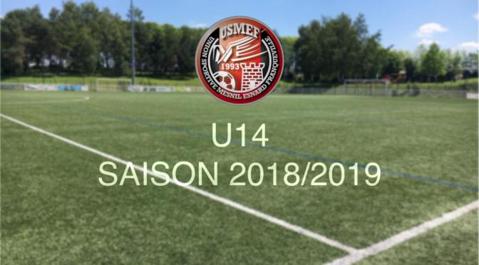 U14 : programme des entraînements/matchs pour les vacances de février