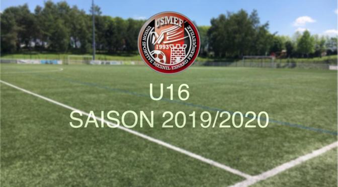 Saison 2019/2020 : programme de reprise U16