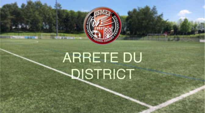 Arrêté du District !