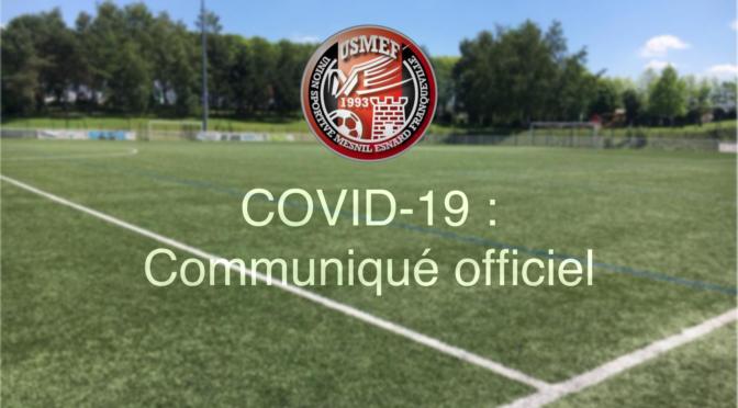 COVID-19 : Communiqué officiel USMEF