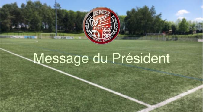 Message du Président