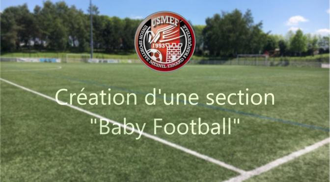 L'USMEF lance son activité «Baby Football»