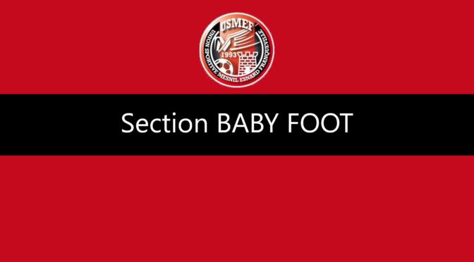 Reprise de la section Baby Foot mercredi 8 septembre